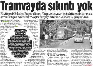 Tramvayda Sıkıntı Yok 04.09.2013