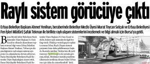Raylı Sistem Görücüye Çıktı 31.10.2013