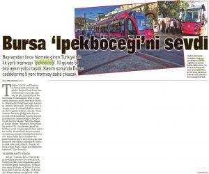 Bursa İpekböceği'ni sevdi 25.10.2013