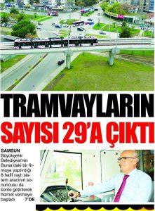 Yerli Tramvaylar Yolcu Taşımaya Başladı (Milliyet) 06.04.2017