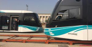 Akçaray'da ikinci tramvay aracı da teslim alındı 01.03.2017